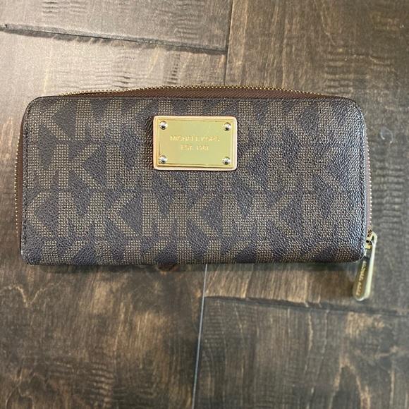 Brown MK wallet